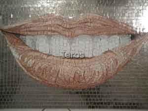 mosaici personalizzati studio dentistico