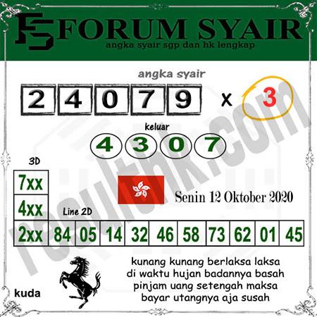Forum Syair HK Senin 12 Oktober 2020