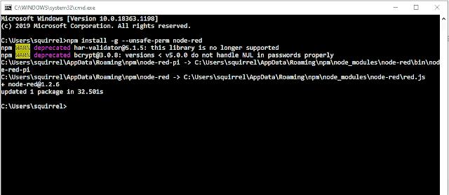 update/upgrade Node-RED
