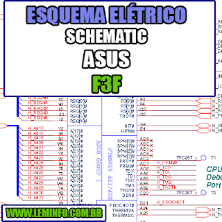 Esquema Elétrico Manual de Serviço Notebook Laptop Placa Mãe Asus F3F Schematic Service Manual Diagram Laptop Motherboard Asus F3F Esquematico Manual de Servicio Diagrama Electrico Portátil Placa Madre Asus F3F