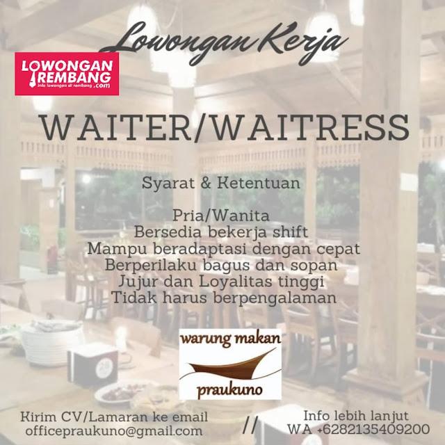 lowongan-kerja-waiter-praukuno-rembang