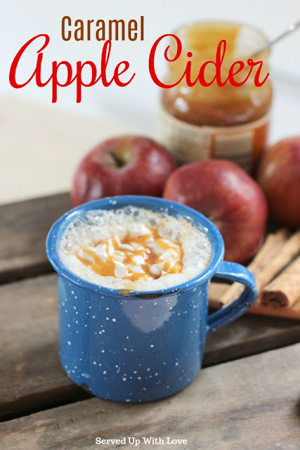 Caramel Apple Cider recipe from Served Up With Love