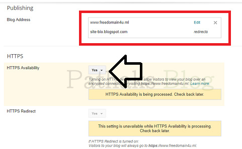 blogger https setting, pathaks blog, anil pathak blog
