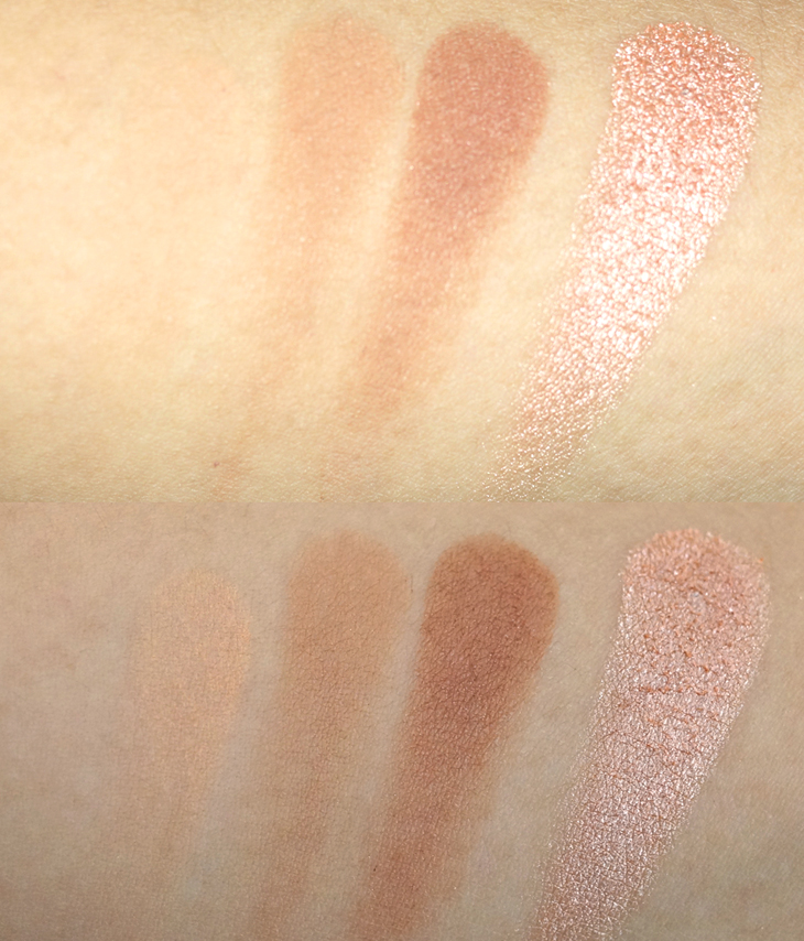Makeup Geek Peach Smoothie Cocoa Bear Creme Brulee In the Spotlight
