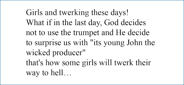 joke:girls and twerking
