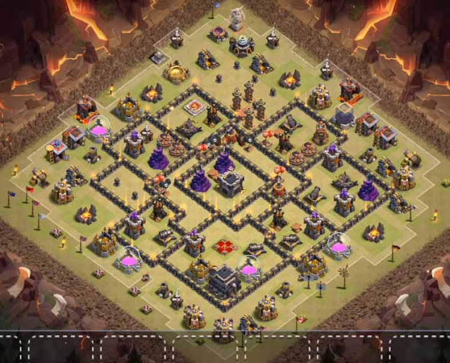 Base COC TH9 War 3