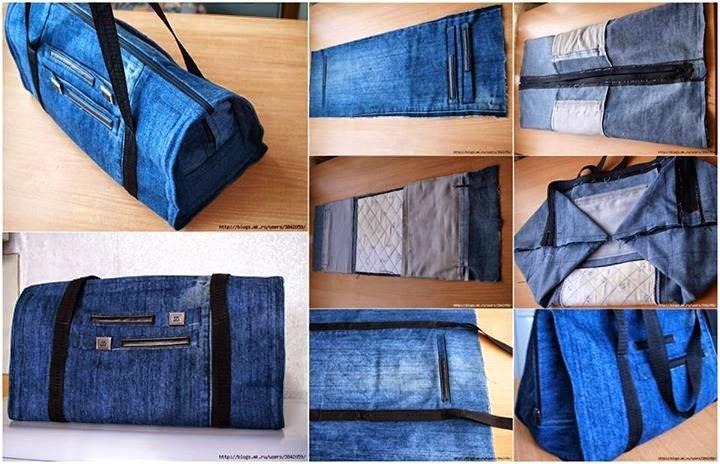 Aprenda à fazer novos modelos de sacolas e bolsas jeans