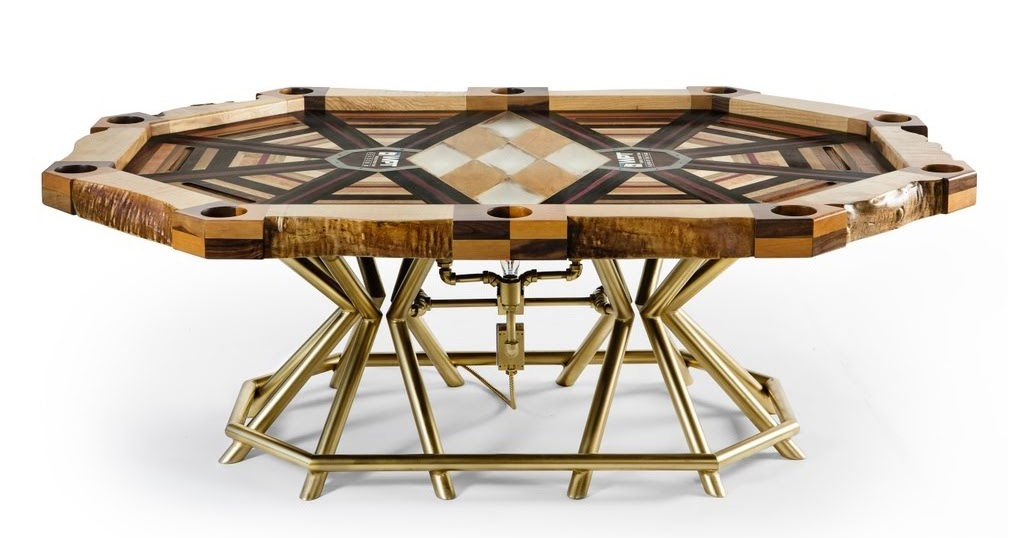 Let S Stay Cool Poker Table Crafted By Axel Yberg Of Akke