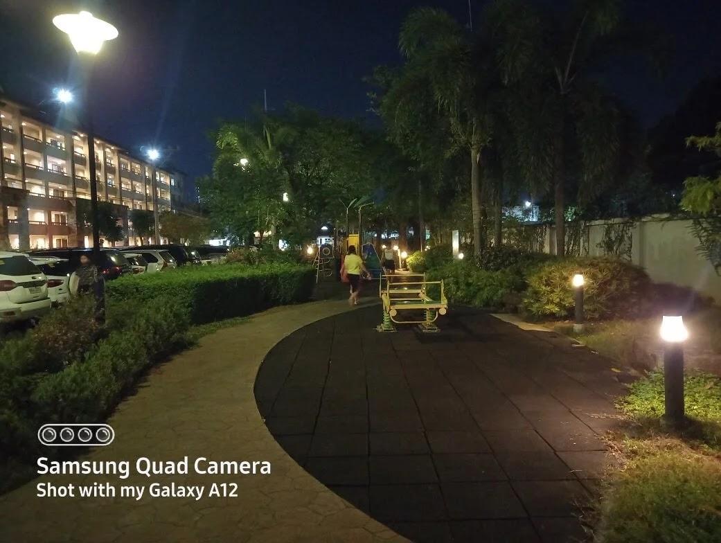 Samsung Galaxy A12 Camera Sample - Playground, Night