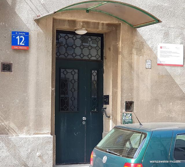 drzwi Warszawa Warsaw ulice street kamienica kamienice architektura Stary Mokotów zabudowa architecture przedwojenne