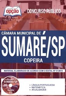 Apostila Câmara Municipal de Sumaré /SP 2018 - Copeira