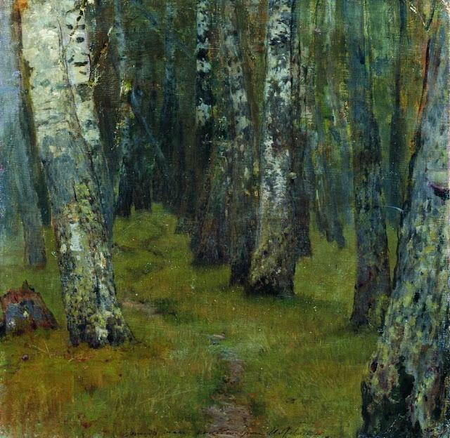 Исаак Ильич Левитан - Березы. Опушка леса. 1880-е