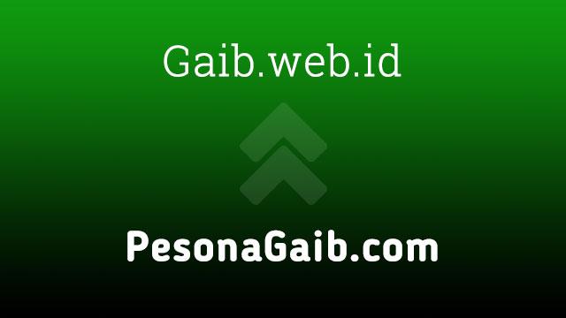 PesonaGaib.com kini menjadi Gaib.web.id