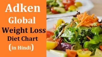 Adken global weight loss diet chart