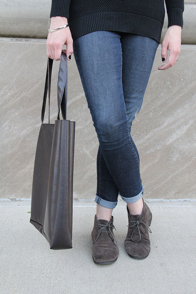 DIY Pleather Shoulder Bag