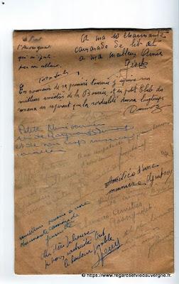 La Bourrée du Massif Central, programme 1938, dédicaces à Julienne Prat.