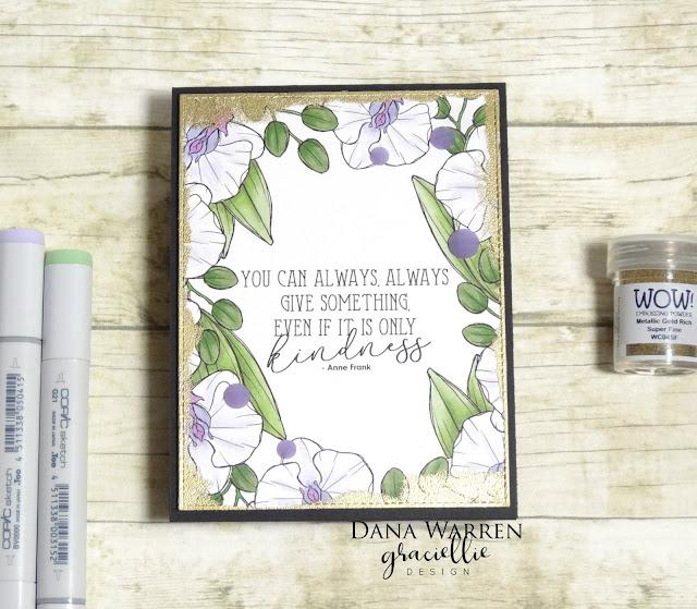 Dana Warren - Kraft Paper Stamps - Graciellie Designs - Wow Embossing Powder