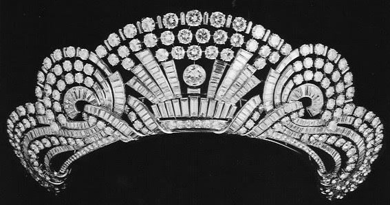 diamond tiara queen nazli egypt van cleef and arpels