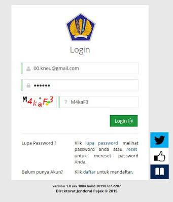 Mengirim Formulir ereg Pajak Untuk Membuat NPWP Online nya Kawan Rembang