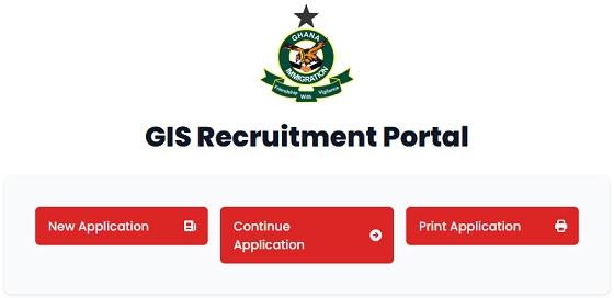 GIS Recruitment Portal 2021/2022 for Application