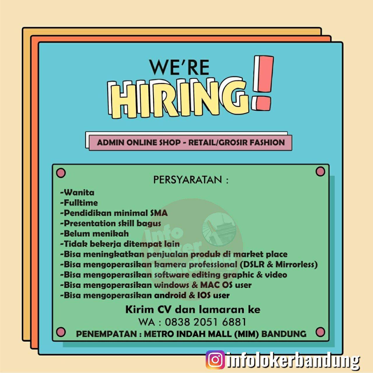 Lowongan Kerja Online Terbaru Bandung