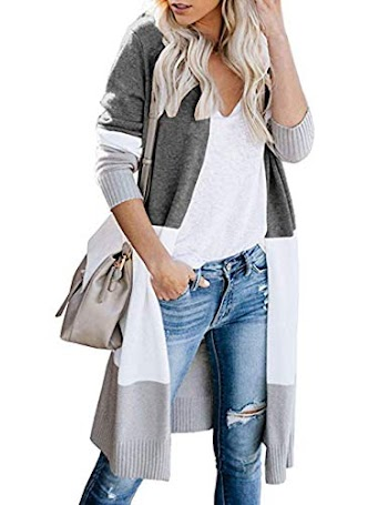 60% OFF  Women's Cardigan Sweaters Lightweight Loose Open Front Long Sleeve Knit Sweater