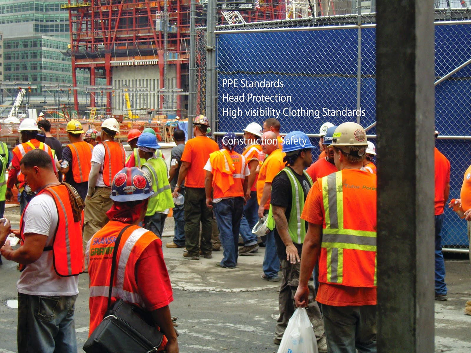 Construction workers wearing PPE equipment