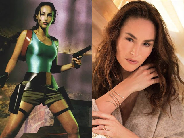 Vanessa Demouy lara croft model past today
