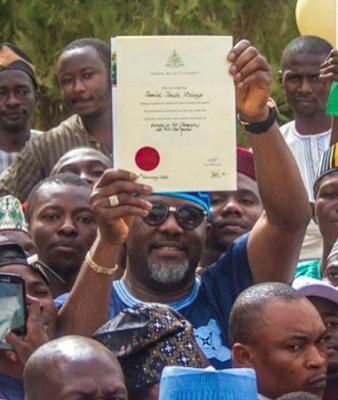 Dino Melaye finally collects his certificate from Ahmadu Bello University, Zaria