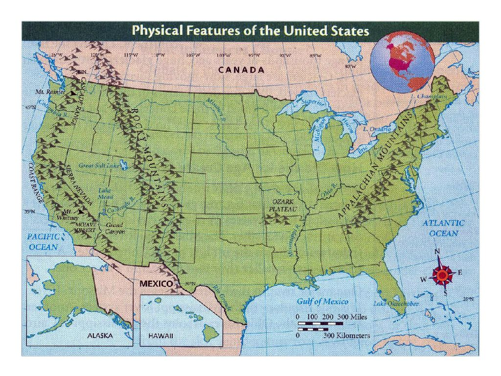 physical features of the united states map