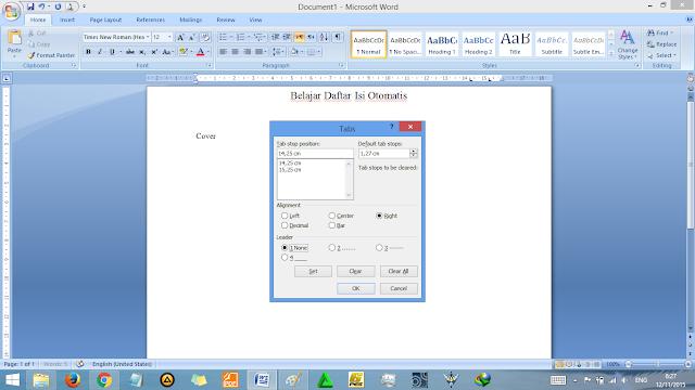 Cara Membuat Daftar Isi Otomatis untuk makalah