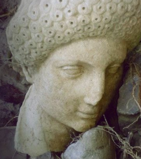 Head of Roman era statue discovered after heavy rains in Crete
