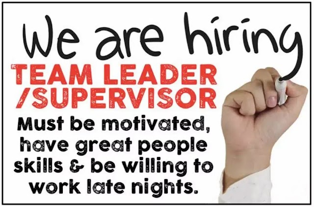 Team Supervisor Required   Saddar, Rawalpindi, Punjab