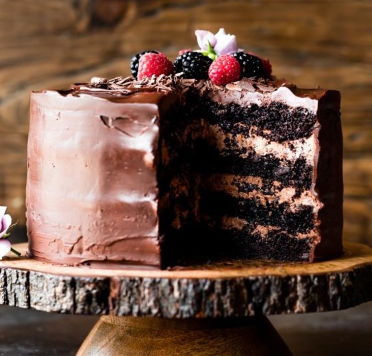 Dark Chocolate Mousse Cake #desserts #sweets
