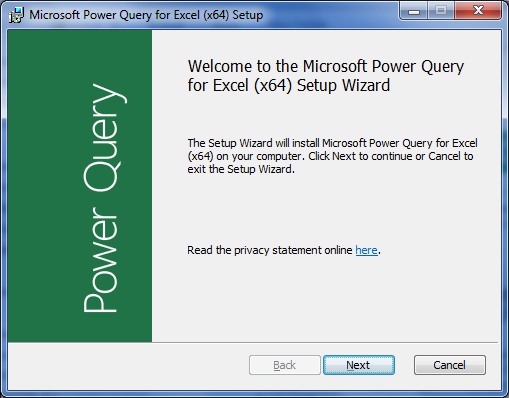 Proses Instalasi Add-in Power Query