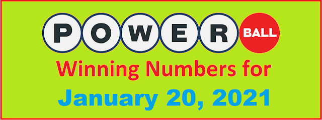 PowerBall Winning Numbers for Wednesday, January 20, 2021