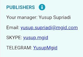 Yusup Supriadi, Admin MGID asal Indonesia.