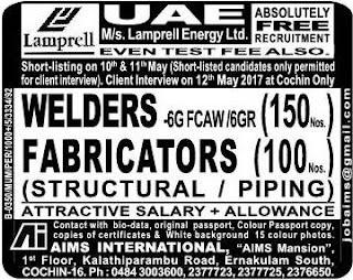 Lamprell UAE Jobs