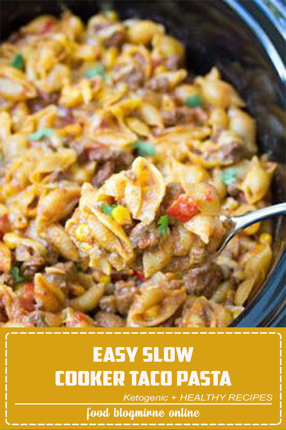 Prep the ingredients for this Easy Slow Cooker Taco Pasta the night before and then start it cooking in your crock pot when you are ready. With just 10 minutes prep, this comforting pasta dish couldn't be easier or faster to make!