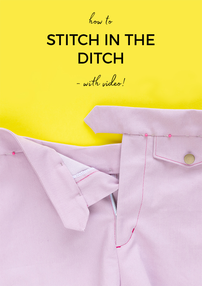 Tilly and the Buttons - How to Stitch in the Ditch