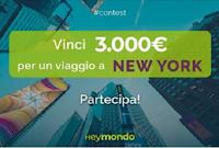 Logo Heymondo : vinci gratis 3000 euro da spendere per un viaggio a New York