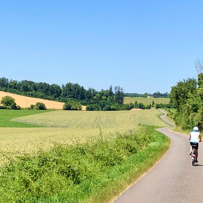 French Village Diaries hello June, hello normal cycling Charente Chateau