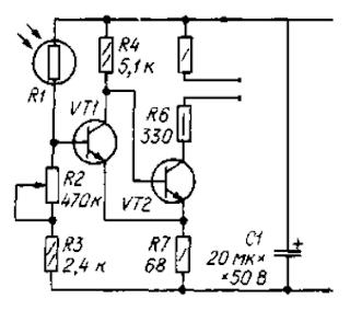 Схема фотодатчика
