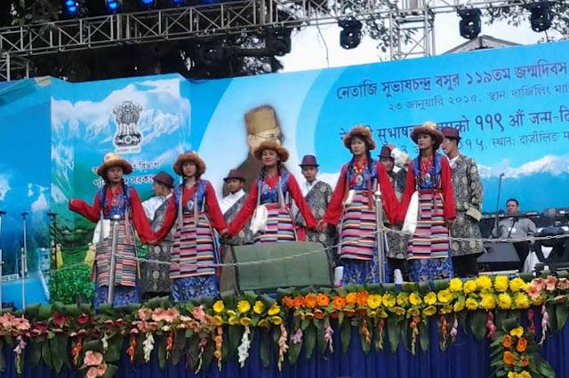Sherpa Cultural Board programme in Chowrasta Darjeeling