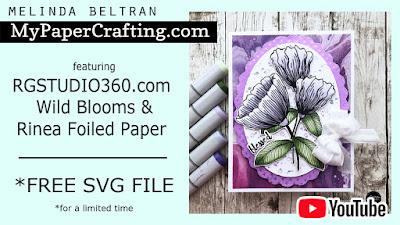 RG Studio Challenge 6 Card, Video & FREE SVG FILE
