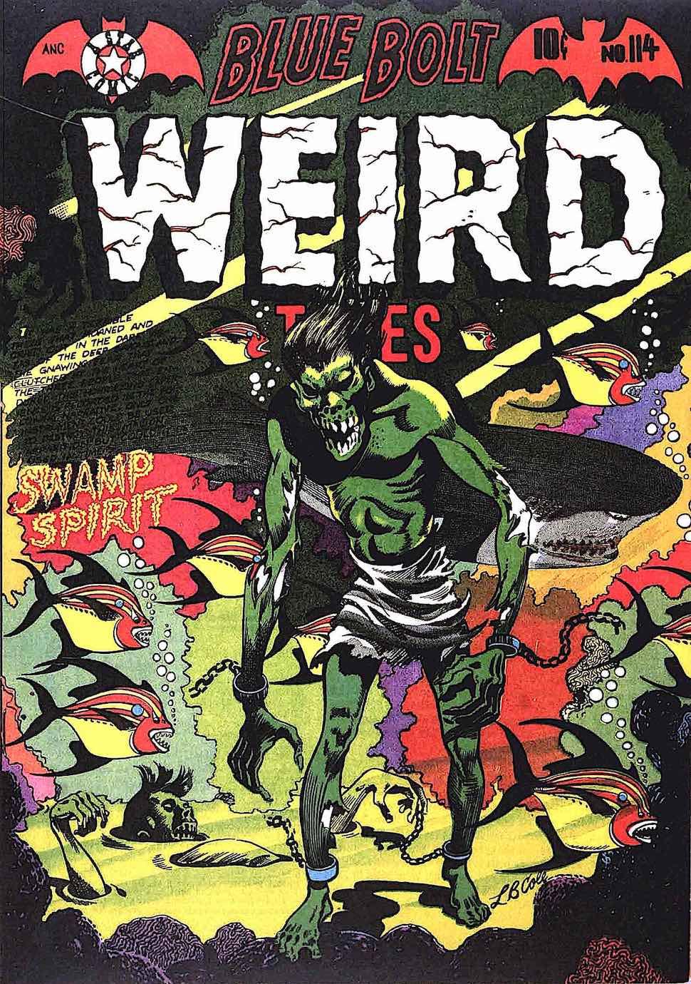 an old L.B. Cole comic book, Weird Tales Swamp Spirit