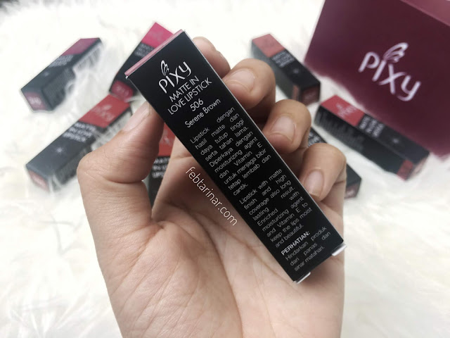 review pixy matte in love lipstick - rara febtarina - lifestyle blogger - beauty blogger