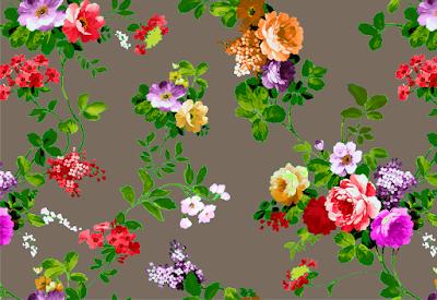 floral water colour textile repeat 7042