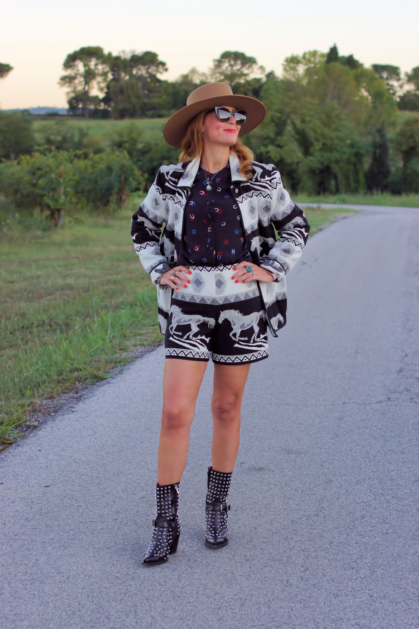 Western jacquard jacket