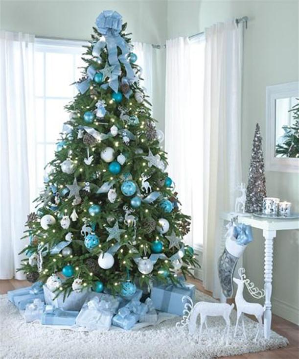 depending on whats already in your ornament collection selecting only ornaments of a single color can turn your tree from dull to dramatic